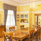 Opulent dining room with cabinet