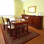 Classic dining room with low cabinet