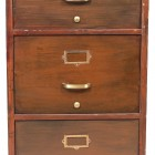 Antique Looking Wood Filing Cabinet