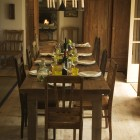 Dining room with wood floor