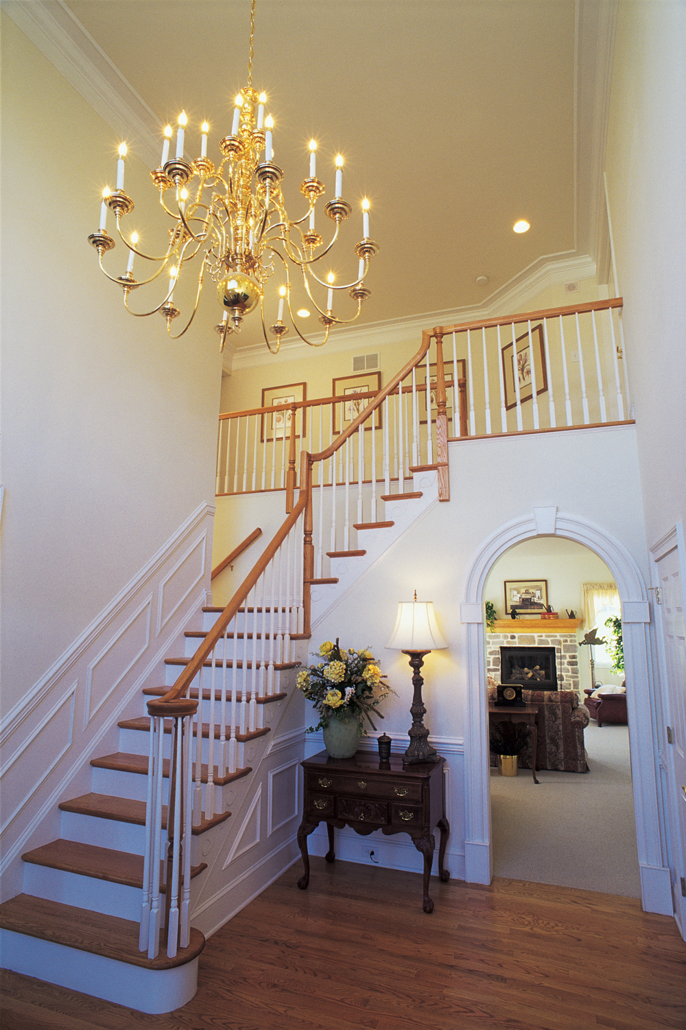 Foyer With Staircase : Foyer brisk living