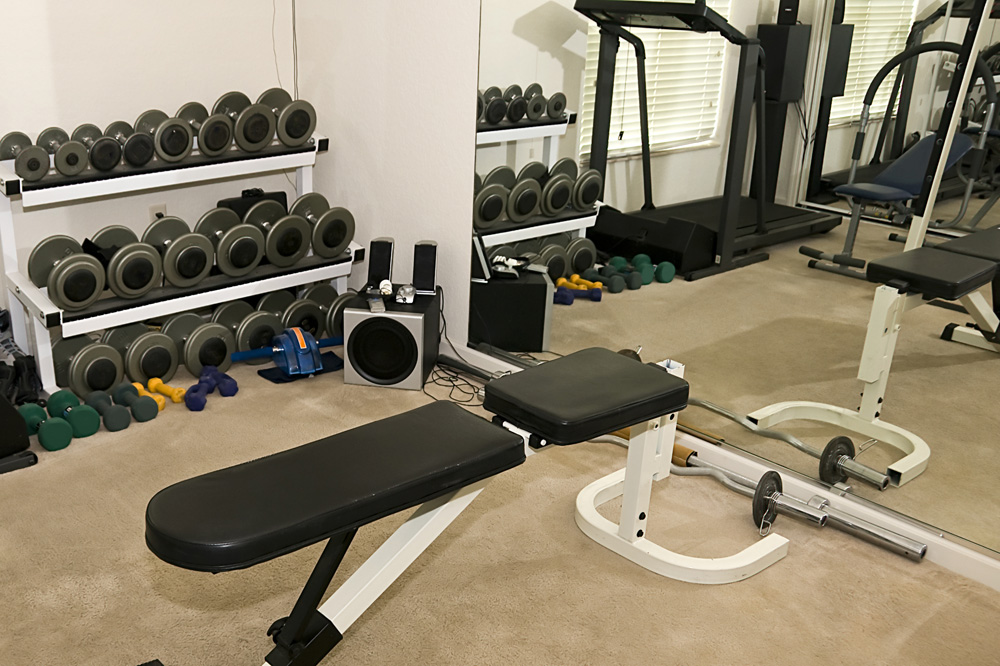 Home gym brisk living Living room gym