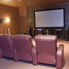 large home media room