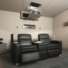 Home Theatre chairs and projector
