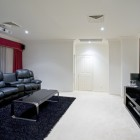 WHite home media room