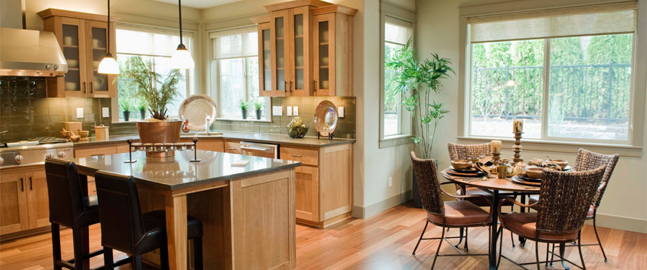 Warm Kitchen with Wood Floors