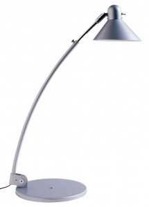 Silver reading lamp
