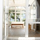 Conservatory through open door