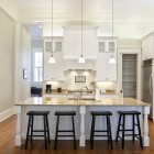 Beautiful kitchen with stools