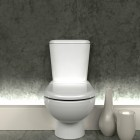 Toilet with Backlit Floorboard